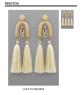Phyllis Dangle Arch Tassel Earrings