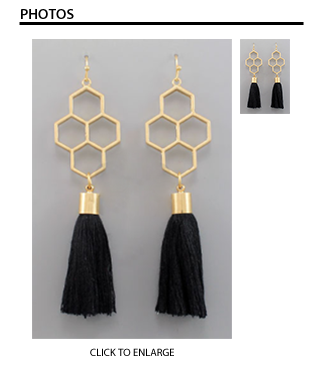HoneyComb Tassel Earrings