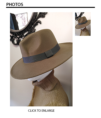 Olive Green Fedora Hat