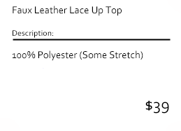 Faux Leather Lace Up Top
