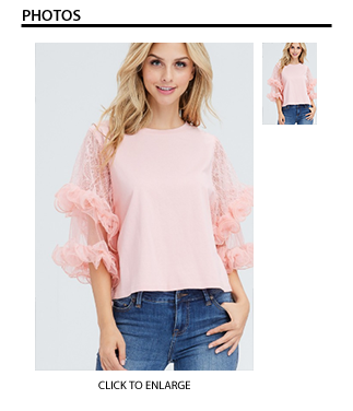 Pink Cotton & Lace Top