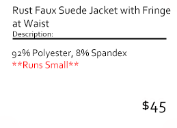 Rust Faux Suede Jacket