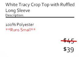 White Tracy Crop Top with Ruffled Long Sleeve