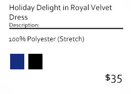 Holiday Delight in Royal Velvet Dress