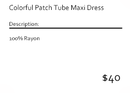 Colorful Patch Tube Maxi Dress