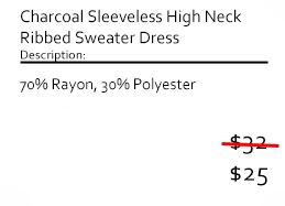 Charcoal Sleeveless High Neck Ribbed Sweater Dress