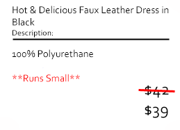 Hot & Delicious Faux Leather Dress in Black
