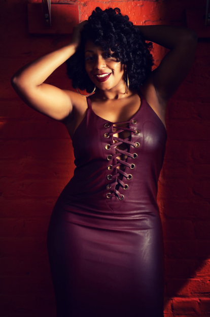 Hot & Delicious Faux Leather Dress in Wine