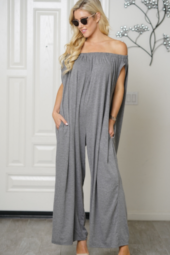 Go with the Flow Gray Jumpsuit