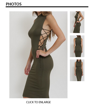 Rosa Peekaboo Dress in Olive