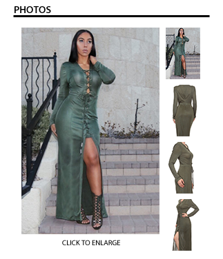 Green with Envy Dress with Split