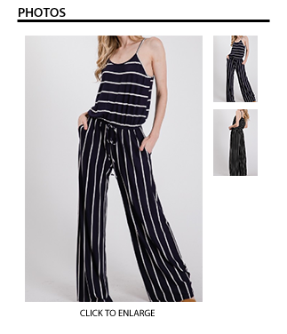 Striped Jumpsuit - Black