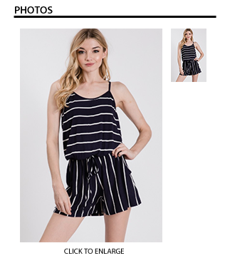 Striped Romper - Black