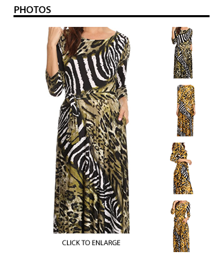 Call of the Wild Maxi Dress in Olive